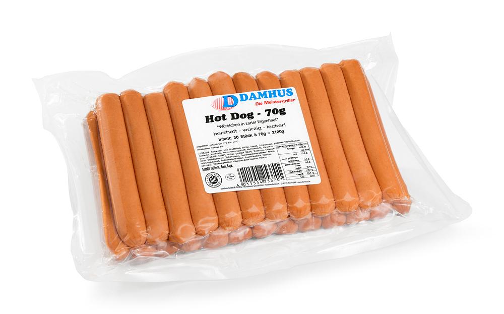 Damhus Hot Dog,  * 30x70g,  zarte Eigenhaut