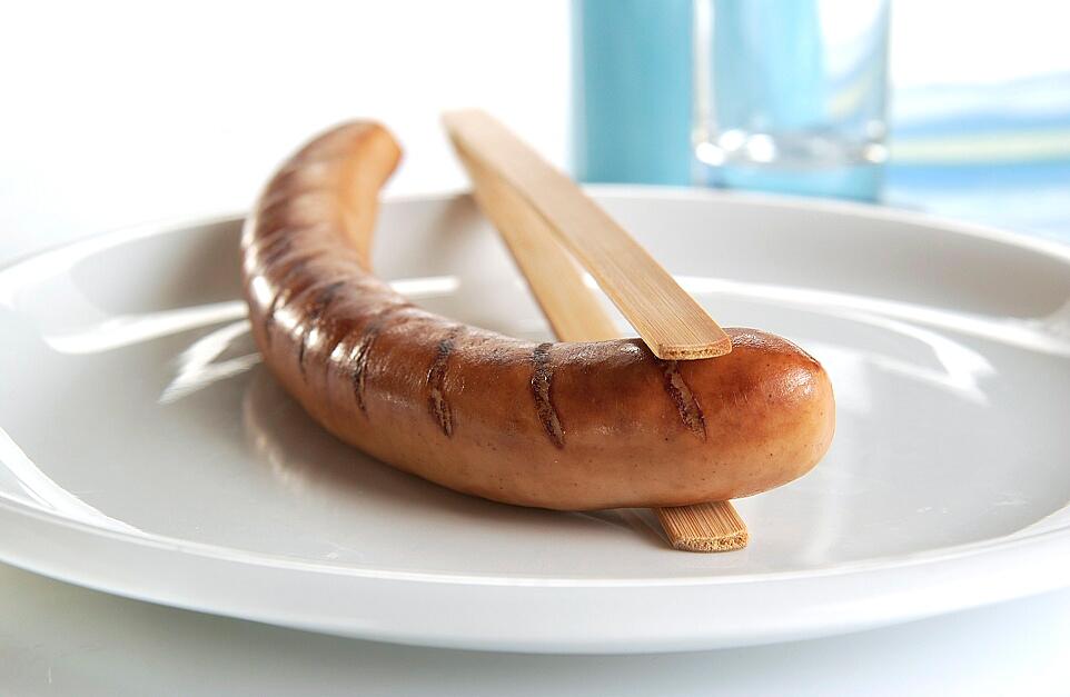 Damhus FREE Bratwurst, 1000g, (CLEAN LABEL) , gebraten-geschnitten
