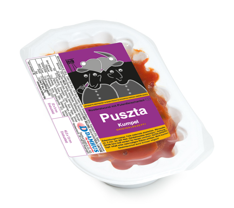 Damhus PusztaKumpel, 220g, (110g Wurst & 110g Sauce)